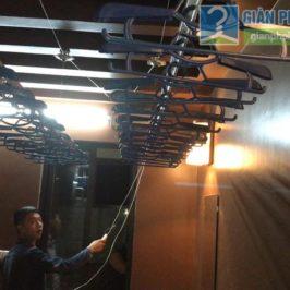 Lắp giàn phơi điện tự động tại Thanh Xuân nhà chị Luận, ngõ 6 Quan Nhân