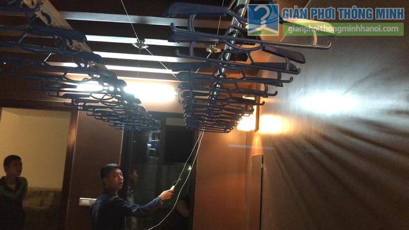 Lắp giàn phơi điện tự động tại Thanh Xuân nhà chị Luận, ngõ 6 Quan Nhân - 12