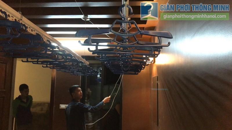 Lắp giàn phơi điện tự động tại Thanh Xuân nhà chị Luận, ngõ 6 Quan Nhân - 05