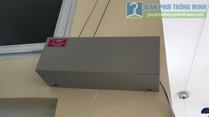 Lắp giàn phơi điện tự động Vinadry nhà anh Trường, ngõ 105 Bạch Mai, Hai Bà Trưng, Hà Nội - 01