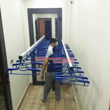 Lắp giàn phơi Hòa Phát Air 701 nhà anh Chiến, Xã Phù Lỗ, Sóc Sơn, Hà Nội