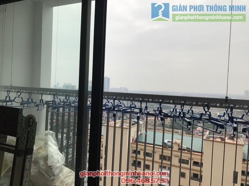 Lắp giàn phơi GP701 nhà chị Hương, chung cư Five Star số 2 Kim Giang, Thanh Xuân, Hà Nội - 01