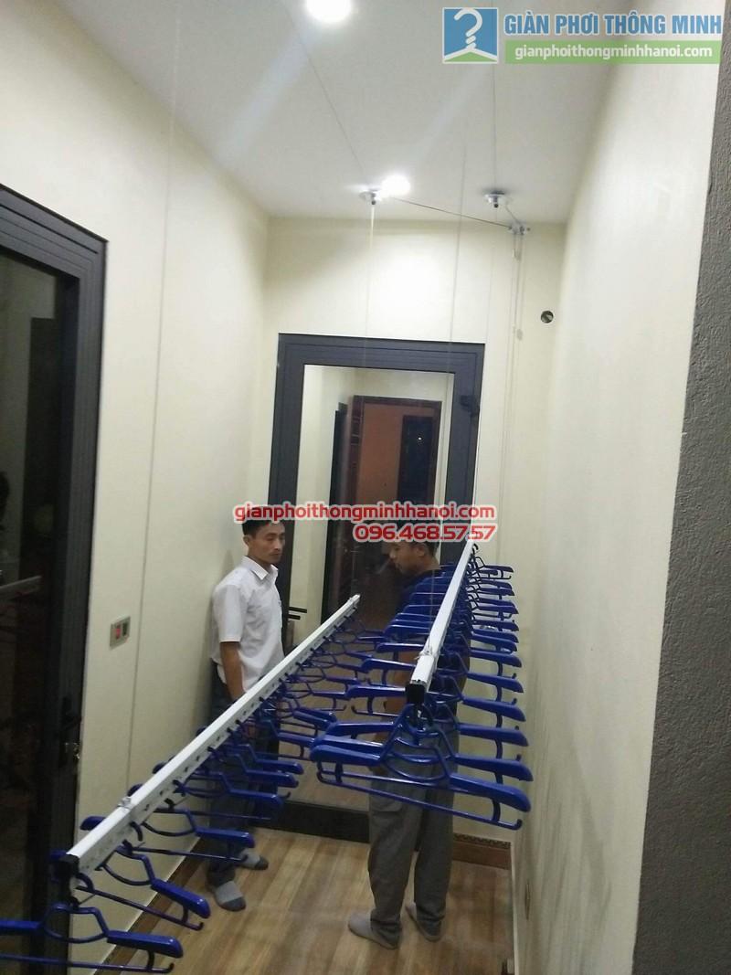 Lắp giàn phơi Hòa Phát Air 701 nhà anh Chiến, Xã Phù Lỗ, Sóc Sơn, Hà Nội - 02