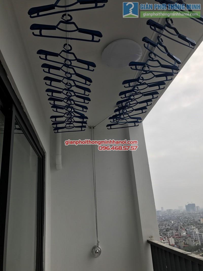 Lắp giàn phơi GP701 nhà chị Hương, chung cư Five Star số 2 Kim Giang, Thanh Xuân, Hà Nội - 06