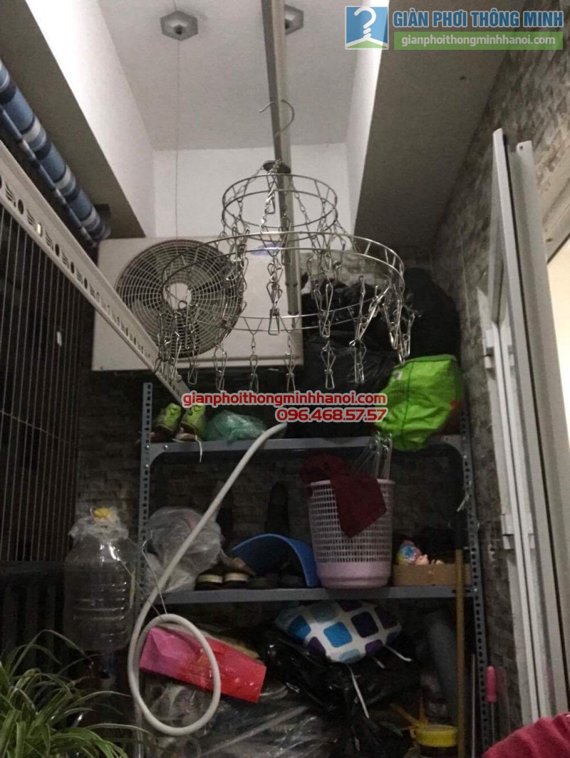 Lắp giàn phơi Hoàng Mai bộ 999B nhà chị Ngoan, chung cư HH1 Linh Đàm