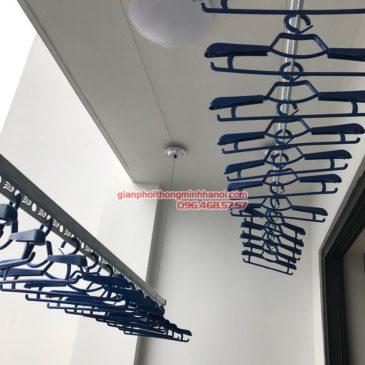 Lắp giàn phơi GP701 nhà chị Hương, chung cư Five Star số 2 Kim Giang, Thanh Xuân, Hà Nội