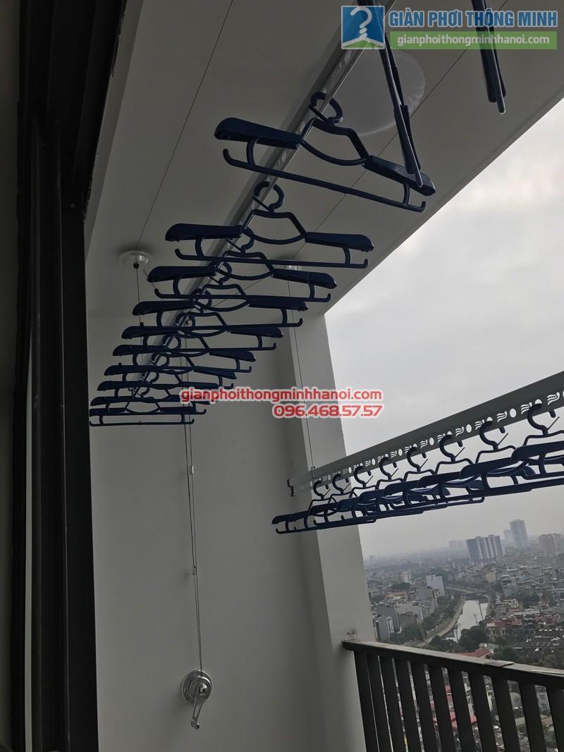 Lắp giàn phơi GP701 nhà chị Hương, chung cư Five Star số 2 Kim Giang, Thanh Xuân, Hà Nội - 12