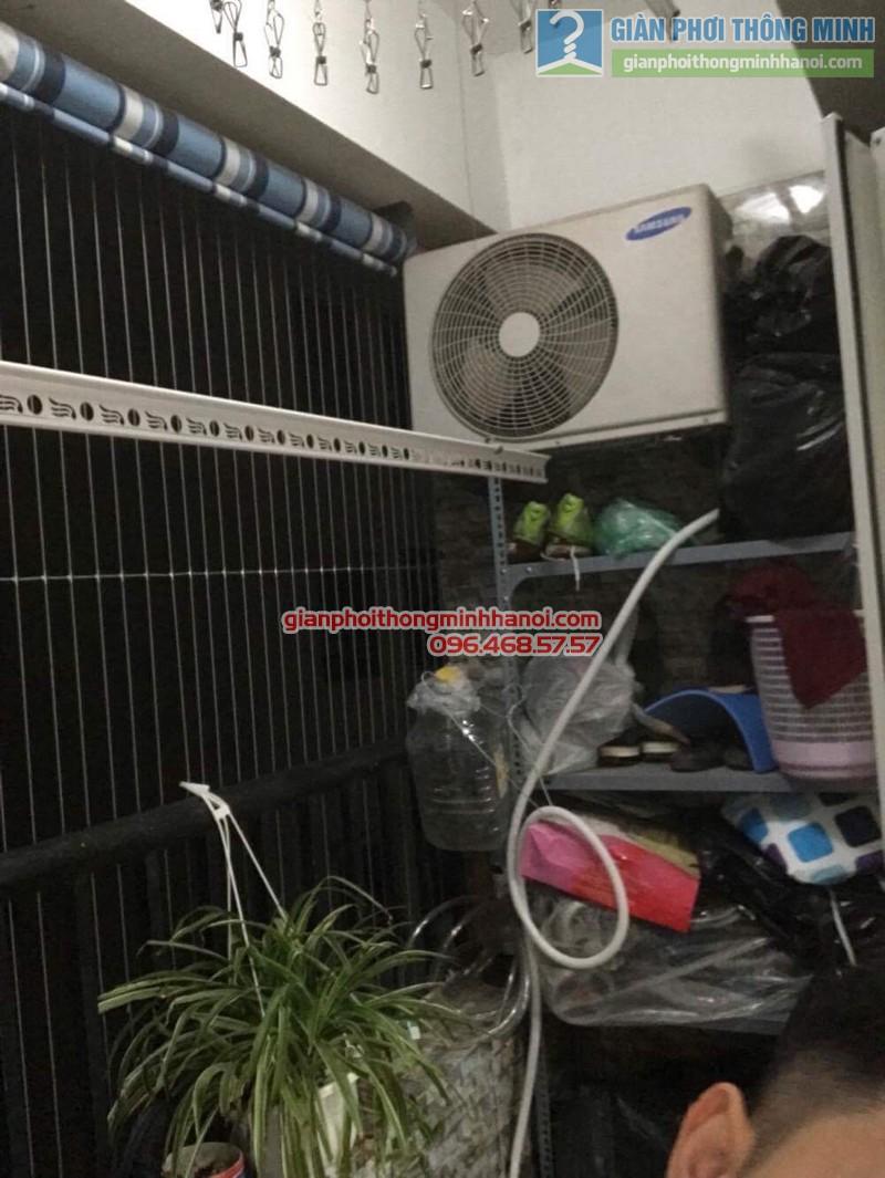 Lắp giàn phơi Hoàng Mai bộ 999B nhà chị Ngoan, chung cư HH1 Linh Đàm - 03