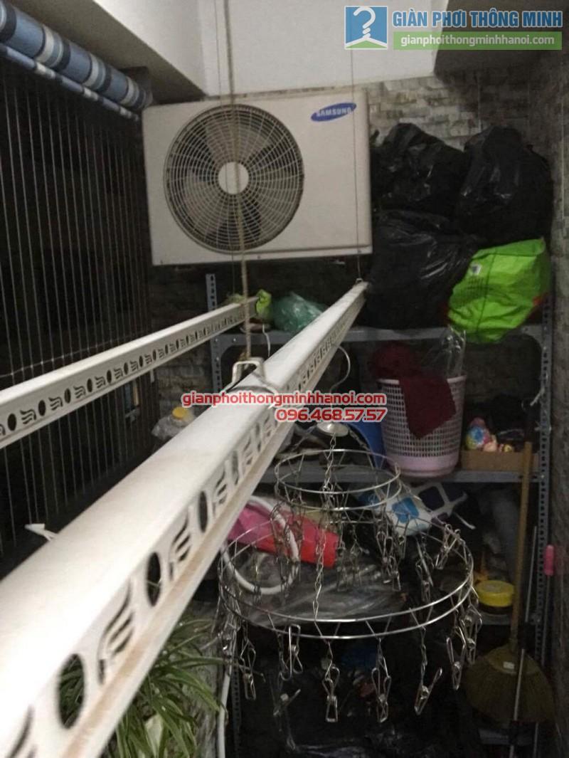 Lắp giàn phơi Hoàng Mai bộ 999B nhà chị Ngoan, chung cư HH1 Linh Đàm - 04