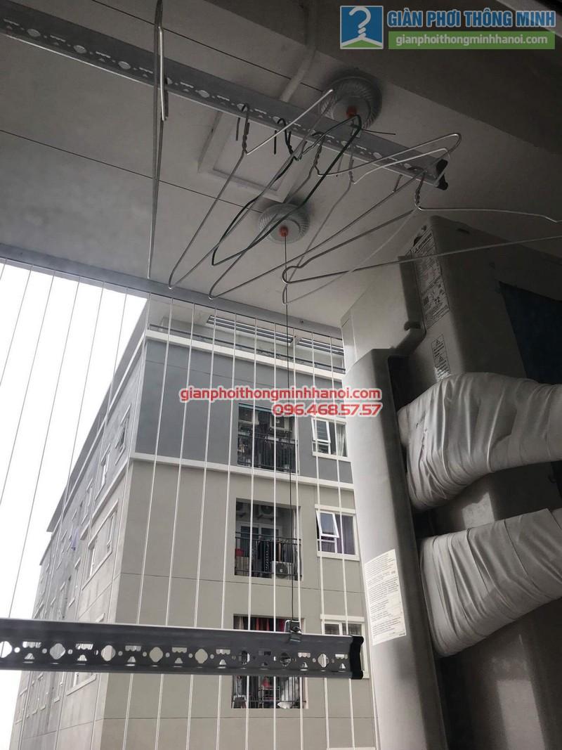 Lắp giàn phơi Thanh Xuân: bộ giàn phơi tay quay liền GP950 nhà chị Lựu, chung cư Star Tower, 283 Khương Trung - 02