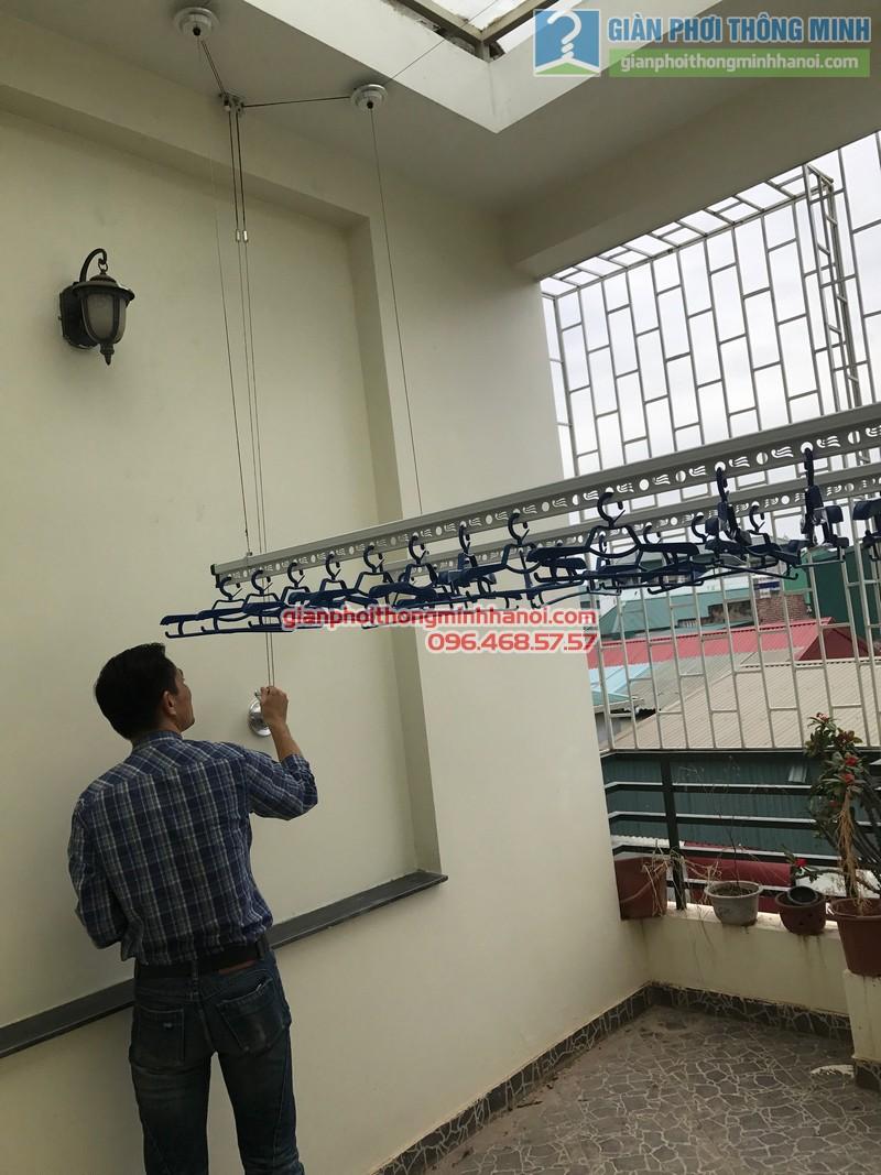Lắp giàn phơi Ba Đình tại nhà anh Nghĩa, ngách 135/73 Đội Cấn - 02