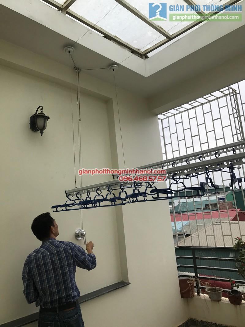 Lắp giàn phơi Ba Đình tại nhà anh Nghĩa, ngách 135/73 Đội Cấn - 04