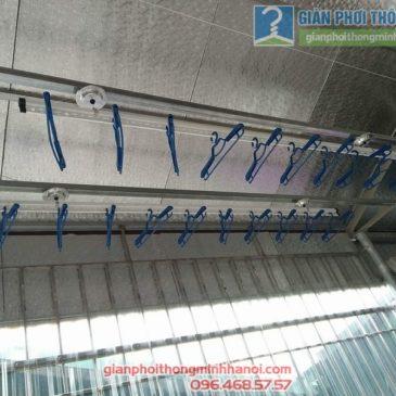 Lắp giàn phơi trần mái tôn nhà cô Mùi, ngõ 16 Khu Văn Công Mai Dịch, Cầu Giấy, Hà Nội