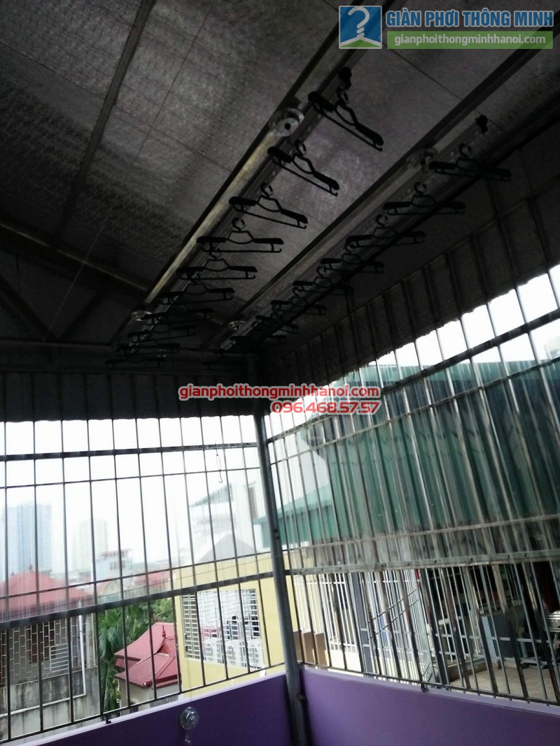 Lắp giàn phơi trần mái tôn nhà cô Mùi, Ngõ 16 Khu văn công Mai Dịch, Cầu giấy, Hà Nội - 05