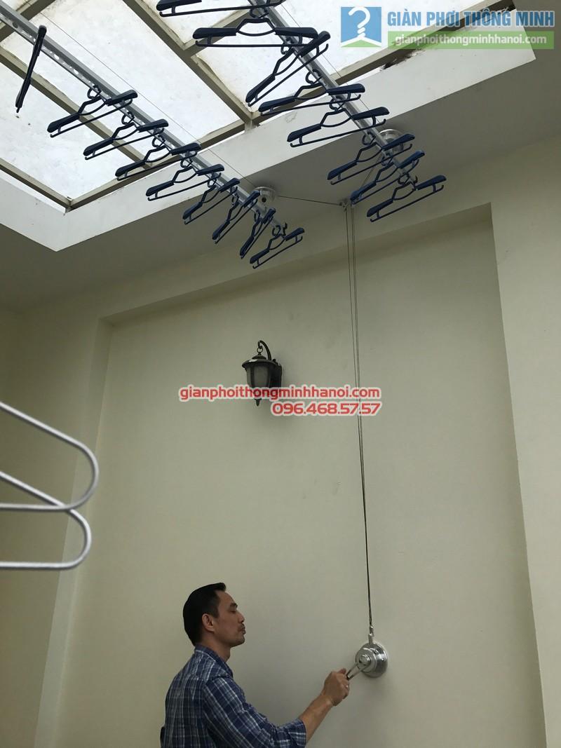 Lắp giàn phơi Ba Đình tại nhà anh Nghĩa, ngách 135/73 Đội Cấn - 06