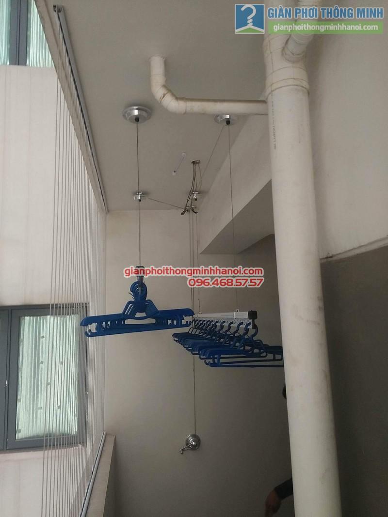 Lắp giàn phơi Hòa Phát Air 701 tại nhà chị Hảo, Chung cư Mulblerry Lane, Hà Đông, Hà Nội - 04