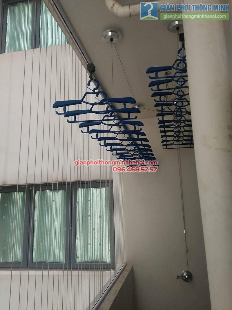 Lắp giàn phơi Hòa Phát Air 701 tại nhà chị Hảo, Chung cư Mulblerry Lane, Hà Đông, Hà Nội - 06