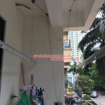 Sửa giàn phơi thông minh tại Từ Liêm nhà cô Thể, chung cư An Lạc, Mỹ Đình