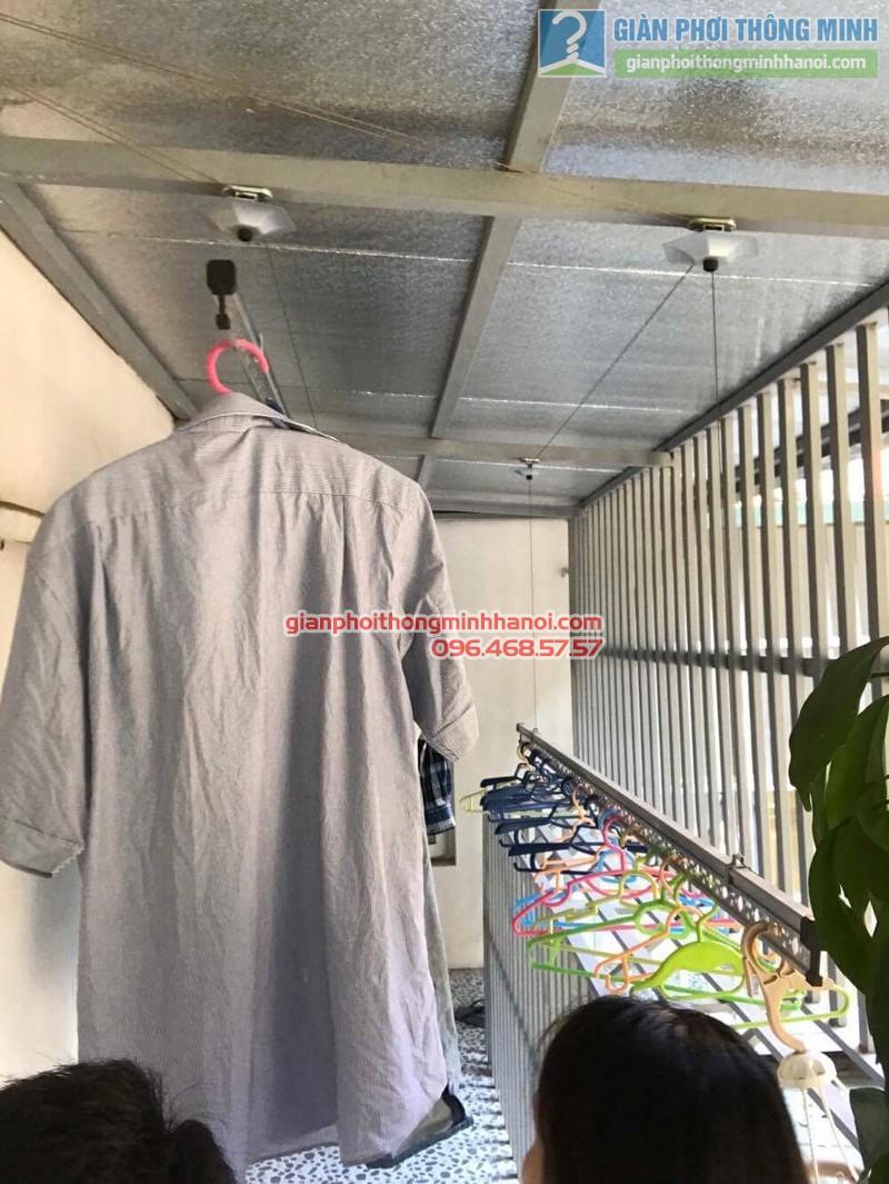 Sửa giàn phơi quần áo nhà chị Linh, ngõ 46 Phạm Ngọc Thạch, Đống Đa, Hà Nội - 02
