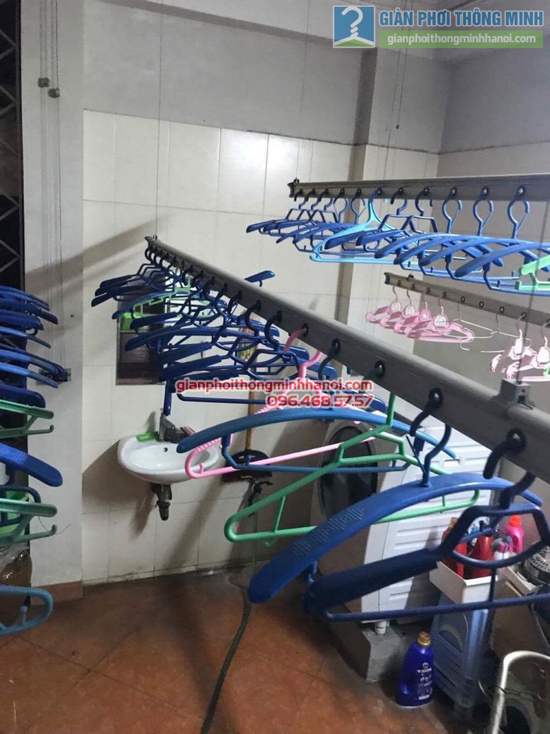 Sửa giàn phơi quần áo cho nhà anh Hội, chung cư 165 Thái Hà, Đống Đa, Hà Nội - 03