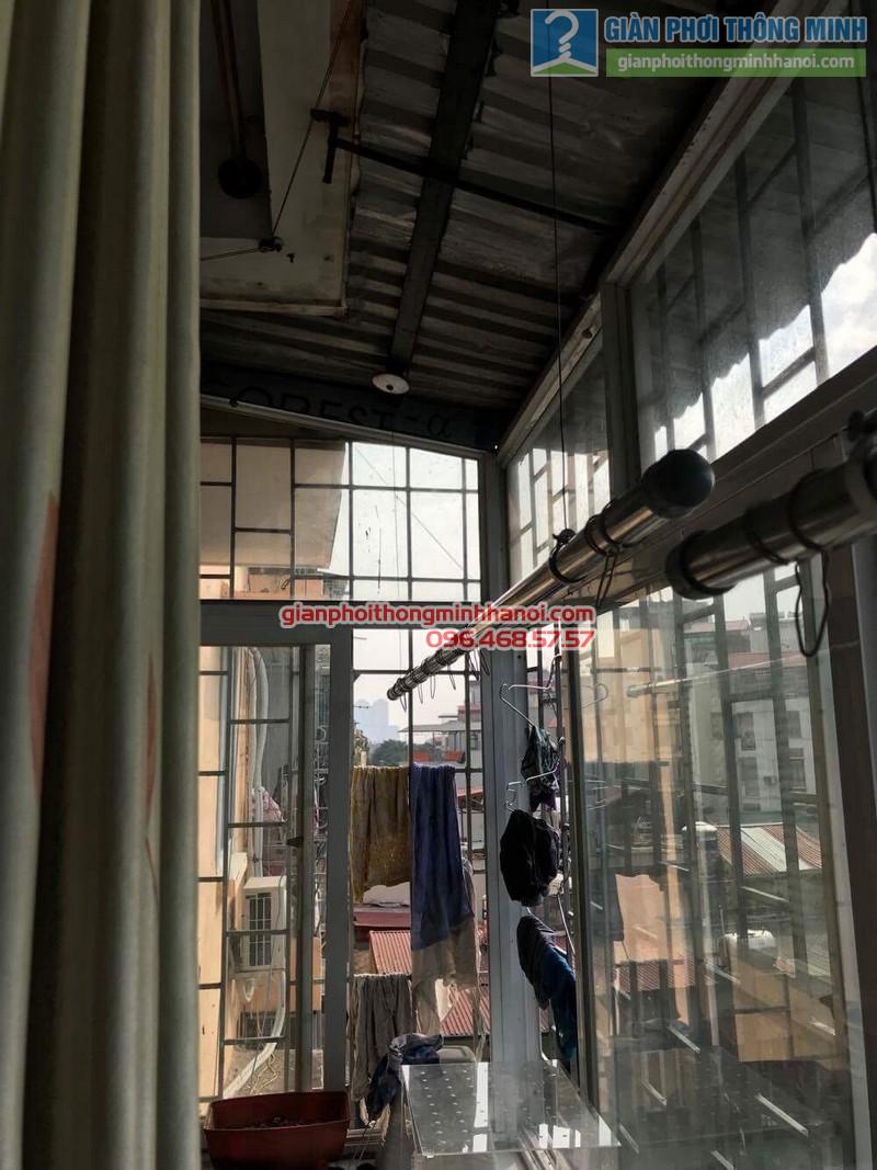 Sửa giàn phơi thông minh Hà Đông nhà chị Kim, ngõ 8, Lê Trọng Tấn - 01