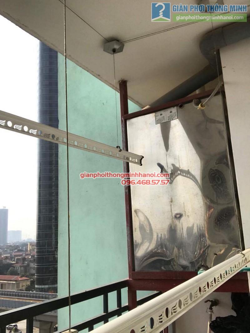 Lắp giàn phơi Hà Đông bộ 999B nhà chị Hà, chung cư 143 Trần Phú - 03