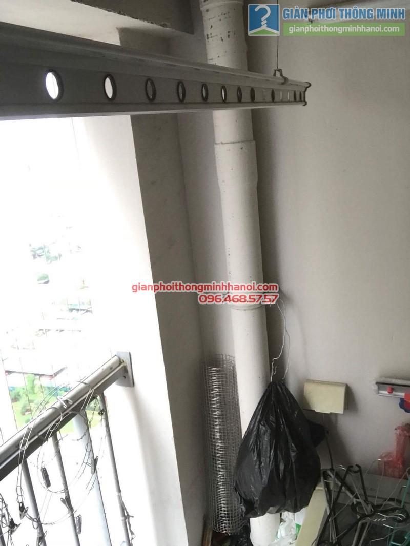 Sửa giàn phơi thông minh nhà chị Tuệ, chung cư Xuân Mai Tower, Hà Đông, Hà Nội - 01