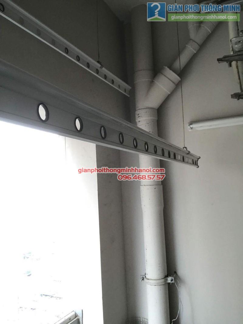 Sửa giàn phơi thông minh nhà chị Tuệ, chung cư Xuân Mai Tower, Hà Đông, Hà Nội - 02