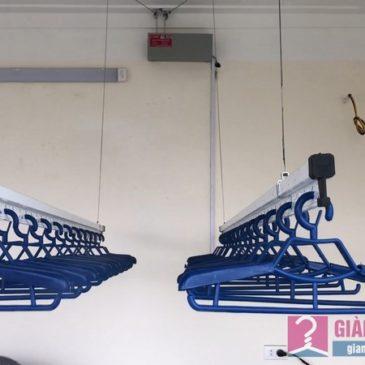 Lắp 2 bộ giàn phơi bấm điện Vinadry nhà chị Hằng, Lệ Chi, Gia Lâm, Hà Nội