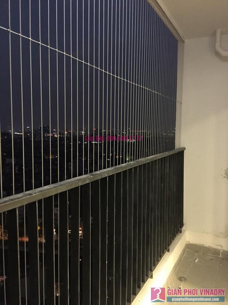 Lắp lưới an toàng ban công cho nhà anh Vui, chung cư Five Star - số 2 Kim Giang, Thanh Xuân, Hà Nội