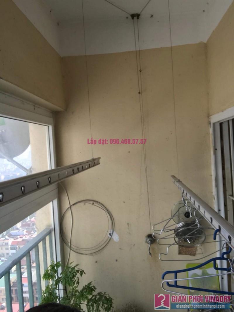 Sửa chữa giàn phơi thông minh nhà chị Duyên, Chung cư CT2, KĐT Văn Khê, Hà Đông - 04