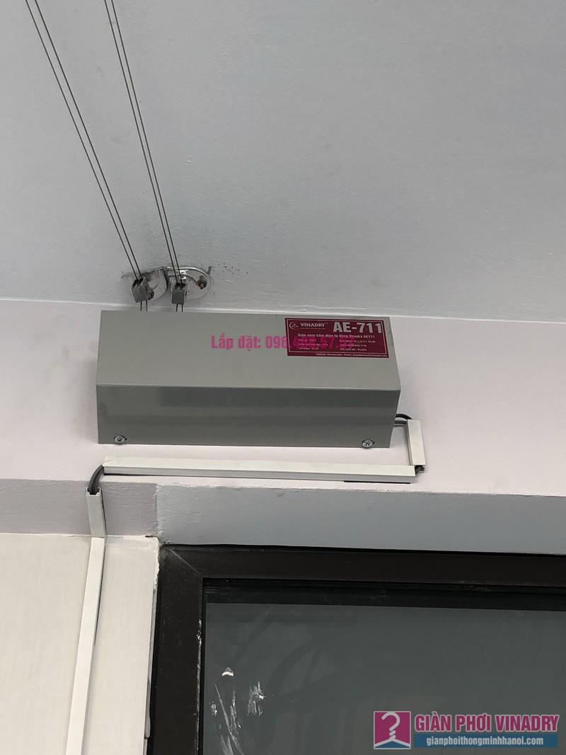 Lắp giàn phơi bấm điện và giàn phơi tay quay liền GP701 nhà chú Khải, khu tái định cư X2A, Yên Sở, Hoàng Mai, Hà Nội - 08