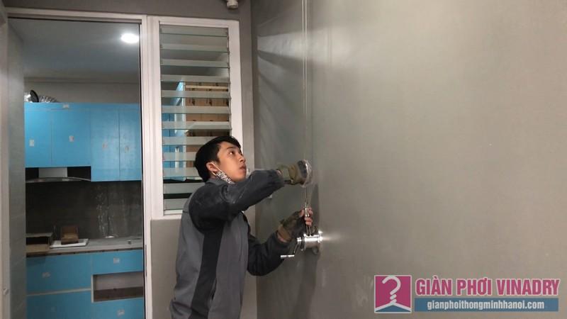 Lắp giàn phơi nhà chị Quỳnh, Tòa S1, chung cư Seasons Avenue, Mỗ Lao, Hà Đông - 07
