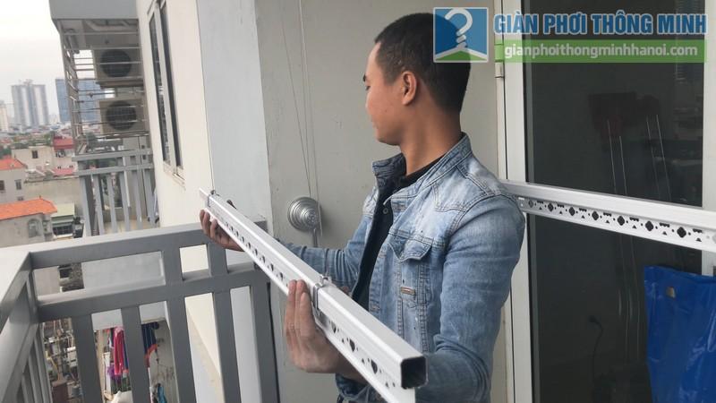 Lắp giàn phơi nhà chị Hà, chung cư 51 Quan Nhân, Thanh Xuân, Hà Nội - 06