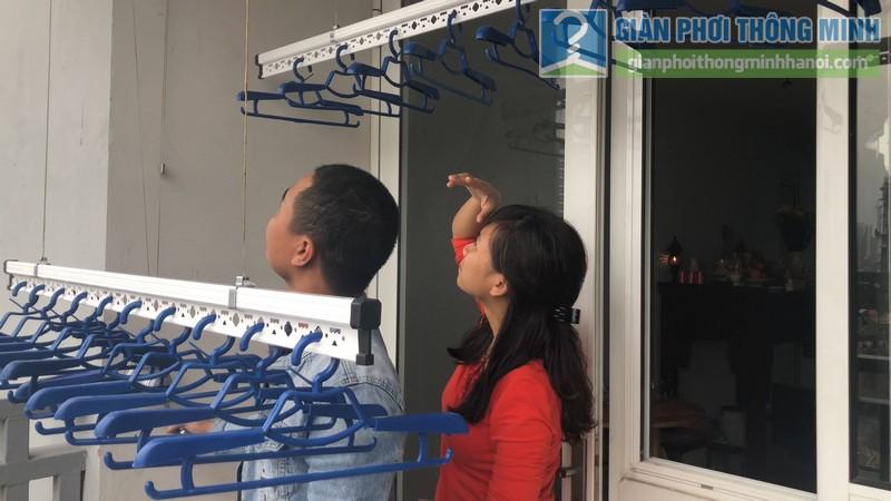 Lắp giàn phơi nhà chị Hà, chung cư 51 Quan Nhân, Thanh Xuân, Hà Nội - 08