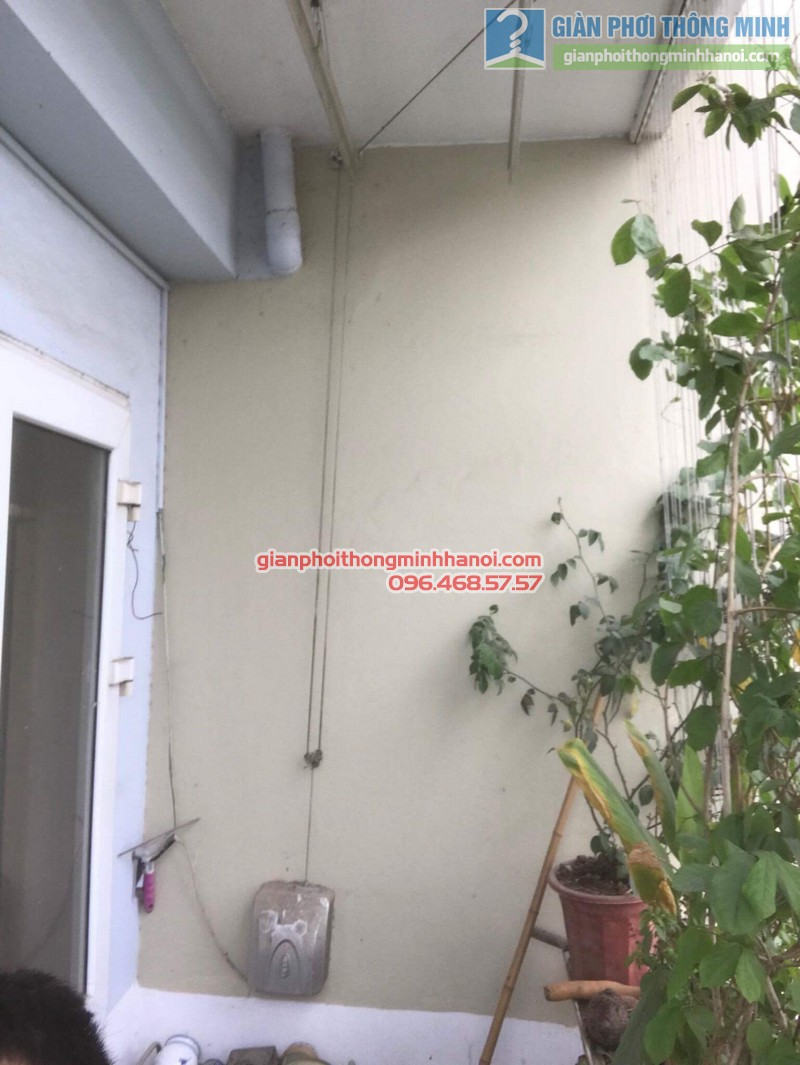 Sửa giàn phơi điện tự động nhà chị Ngoan, KĐT Đại Kim, Hoàng Mai, Hà Nội - 08