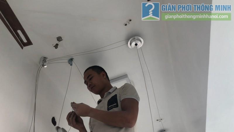 Lắp đặt giàn phơi thông minh nhà chị Minh, chung cư Nàng Hương, Hà Đông,, Hà Nội - 02