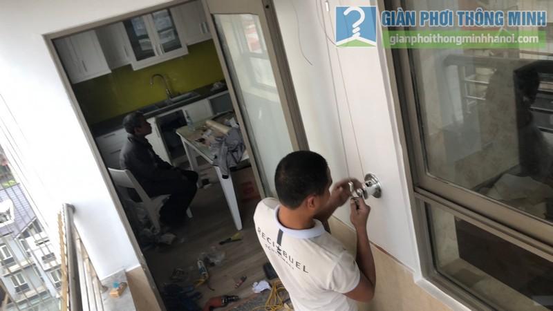 Lắp đặt giàn phơi thông minh nhà chị Minh, chung cư Nàng Hương, Hà Đông,, Hà Nội - 04