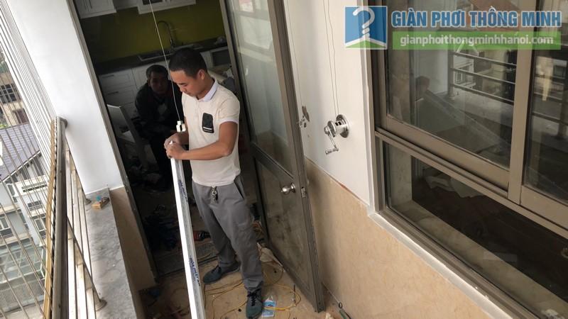 Lắp đặt giàn phơi thông minh nhà chị Minh, chung cư Nàng Hương, Hà Đông,, Hà Nội - 05