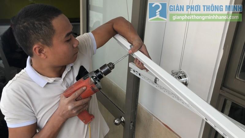 Lắp đặt giàn phơi thông minh nhà chị Minh, chung cư Nàng Hương, Hà Đông, Hà Nội - 06