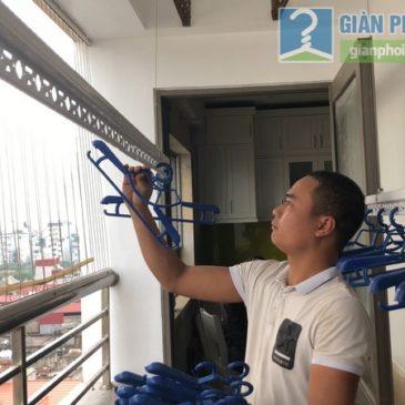 Lắp đặt giàn phơi thông minh nhà chị Minh, chung cư Nàng Hương, 583 Nguyễn Trãi, Hà Đông, Hà Nội