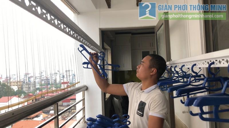 Lắp đặt giàn phơi thông minh nhà chị Minh, chung cư Nàng Hương, Hà Đông, Hà Nội - 07