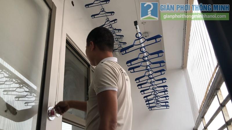 Lắp đặt giàn phơi thông minh nhà chị Minh, chung cư Nàng Hương, Hà Đông, Hà Nội - 08