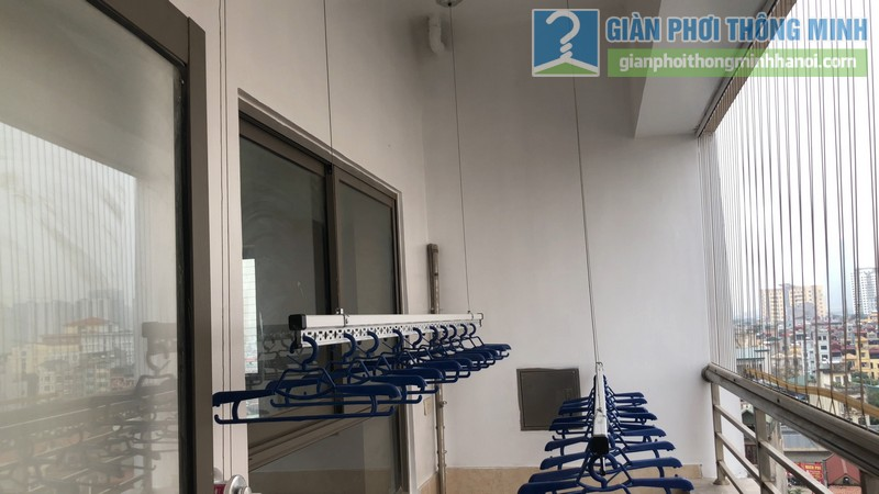 Lắp đặt giàn phơi thông minh nhà chị Minh, chung cư Nàng Hương, Hà Đông,, Hà Nội - 09