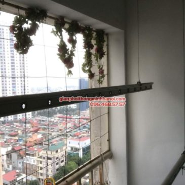 Sửa giàn phơi nhà chị Minh, chung cư CT1B1, KĐT Xala, Hà Đông, Hà Nội