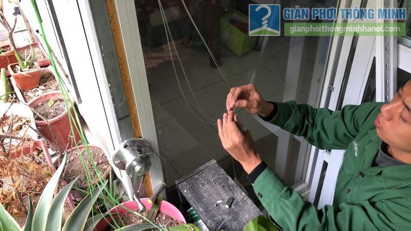 Lắp giàn phơi thông minh nhà anh Hiểu, 141 Thịnh Quang, Đống Đa, Hà Nội - 03