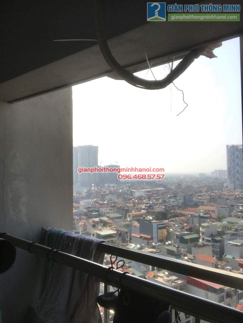 Sửa giàn phơi nhà chị Thoa, chung cư CT1 Xuân Mai Complex - 05