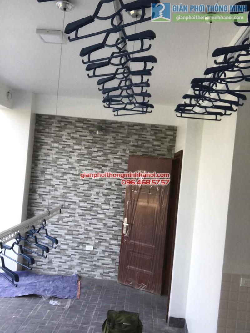 Lắp đặt giàn phơi thông minh nhà chị Nga, Long Biên, Hà Nội - 06