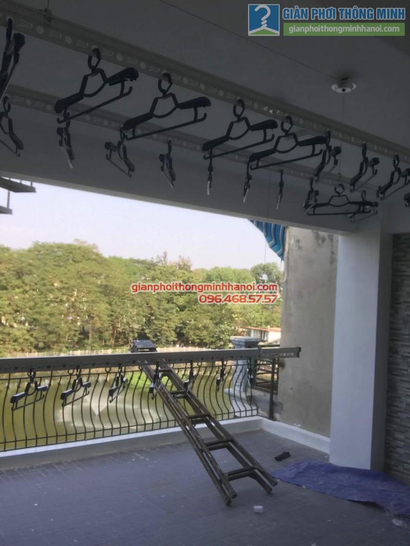 Lắp đặt giàn phơi thông minh nhà chị Nga, Long Biên, Hà Nội - 08