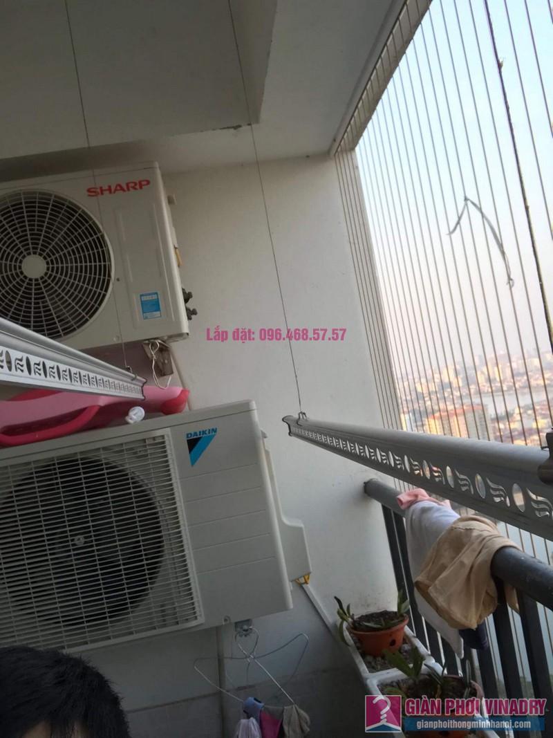 Sửa giàn phơi Hoàng Mai, nhà chị Thắm, chung cư HH3B Linh Đàm - 09